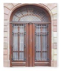 Strasbourg Door 07 Fleece Blanket