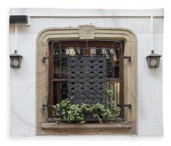 Strasbourg Window 01 Fleece Blanket