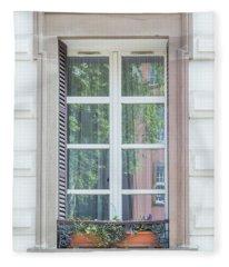 Strasbourg Window 03 Fleece Blanket