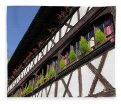 Strasbourg Window Boxes Fleece Blanket