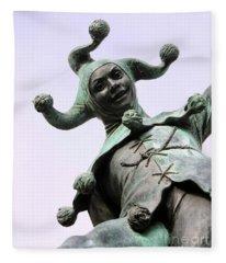 Stratford's Jester Statue Fleece Blanket