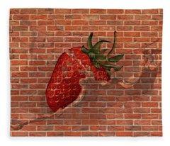 Strawberries And Cream Amazing Graffiti Fleece Blanket