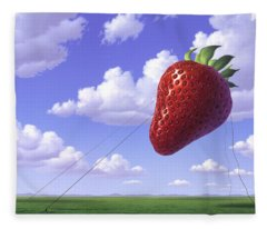 Strawberry Field Fleece Blanket