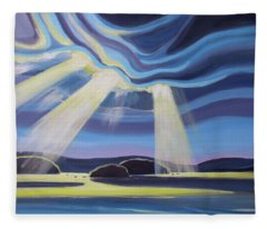 Streaming Light  Fleece Blanket