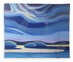 Streaming Light II Fleece Blanket