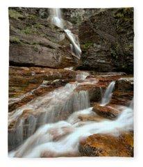Streams Below Virginia Falls Fleece Blanket