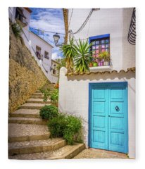 Street In Altea, Spain. Fleece Blanket