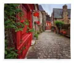 Street Of Dinan 2 Fleece Blanket
