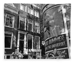 Street Scene Amsterdam Fleece Blanket