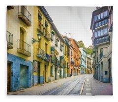 Street Scene Granada Fleece Blanket