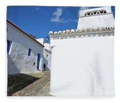 Streets Of A Medieval Castle. Alentejo Fleece Blanket