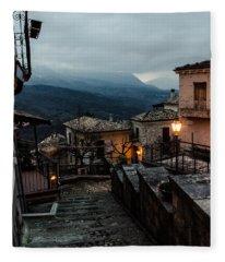 Streets Of Italy - Caramanico 3 Fleece Blanket