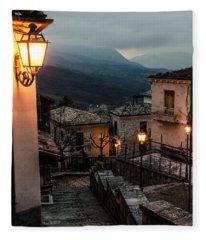 Streets Of Italy - Caramanico Fleece Blanket