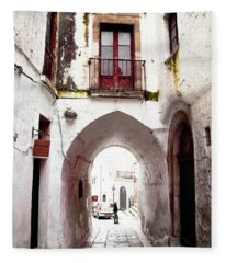 Streets Of Ostuni Fleece Blanket