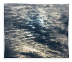 Striated Clouds Fleece Blanket