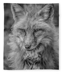 Striking A Pose Black And White Fleece Blanket