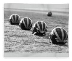 Striped Helmets On The Field Fleece Blanket