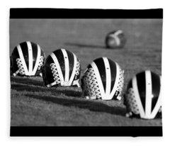 Striped Helmets With Football Fleece Blanket