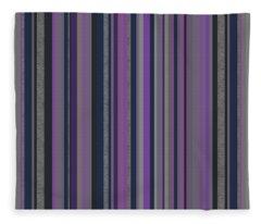 Stripes In Grayed Lavender Fleece Blanket
