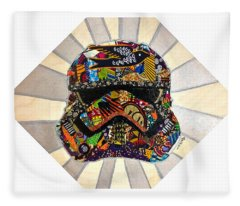 Strom Trooper Afrofuturist  Fleece Blanket