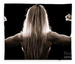 Strong Light Fleece Blanket