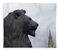 Strong Lion Fleece Blanket
