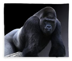 Strong Male Gorilla Fleece Blanket