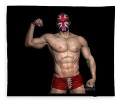 Studio Man Render 09 Fleece Blanket
