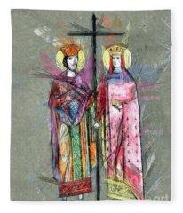 Sts. Constantine And Helen Fleece Blanket