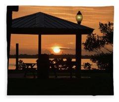 Stuart Sunrise Fleece Blanket