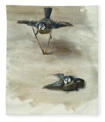 Studies Of A Dead Bird Fleece Blanket