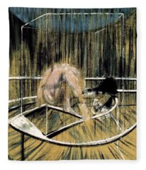 Study For Crouching Nude Fleece Blanket