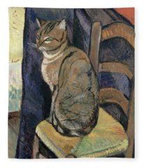 Study Of A Cat Fleece Blanket