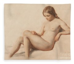 Study Of A Nude Fleece Blanket