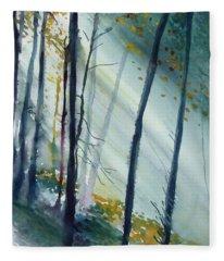Study The Trees Fleece Blanket