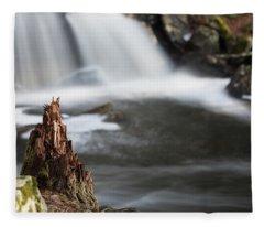 Stumped At The Secret Waterfall Fleece Blanket
