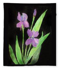 Stunning Irises Fleece Blanket
