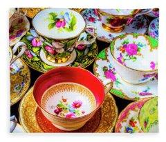 Stunning Tea Cups Fleece Blanket