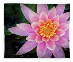 Stunning Water Lily Fleece Blanket