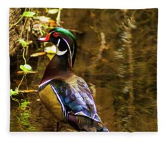 Stunning Wood Duck Fleece Blanket