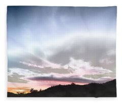 Submarine In The Sky Fleece Blanket