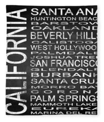 Subway California State Square Fleece Blanket