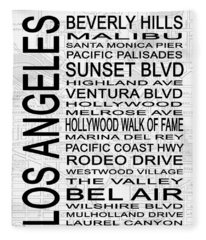 Subway Los Angeles 2 White Fleece Blanket