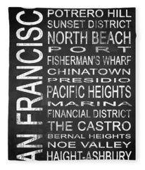 Subway San Francisco 3 Fleece Blanket
