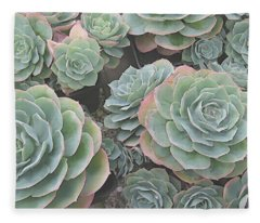 Succulent 2 Fleece Blanket
