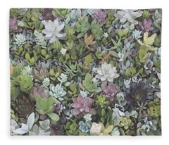 Succulent 8 Fleece Blanket