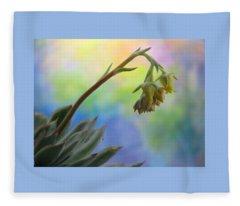 Succulent At Dawn Fleece Blanket