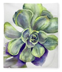 Succulent Plant Fleece Blanket