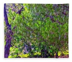Sudden Downpour Fleece Blanket