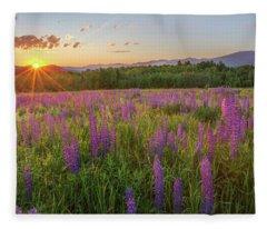 Sugar Hill New Hampshire Lupine Fleece Blanket